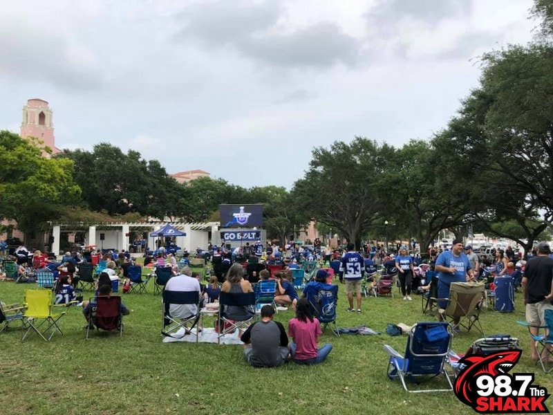 The Shark had a lot of fun at the Lightning Watch Party held at Straub Park! Thank you to everyone that showed up to support the team and win prizes!